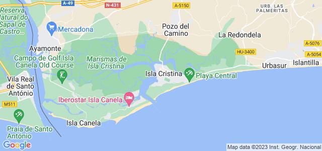 Mapa de Isla Cristina
