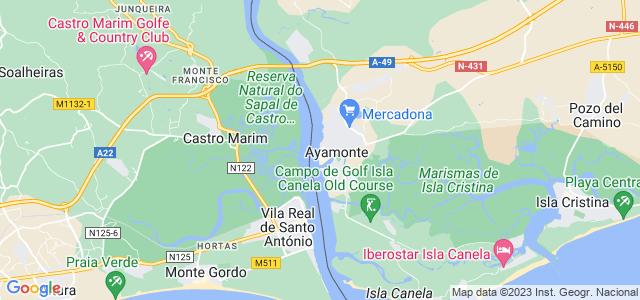 Mapa de Ayamonte