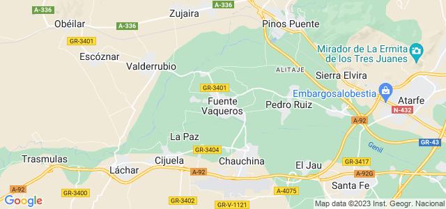 Mapa de Fuente Vaqueros