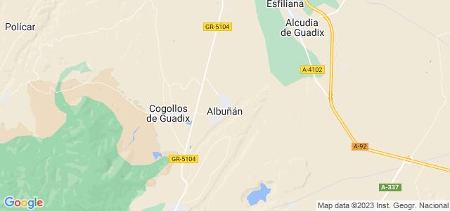 Mapa de Albuñán