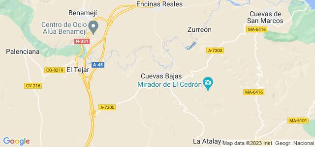 Mapa de Cuevas Bajas