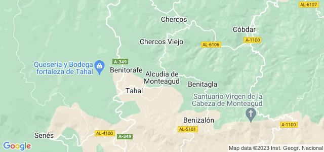 Mapa de Alcudia de Monteagud