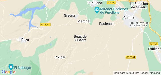 Mapa de Beas de Guadix
