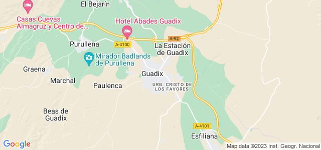 Mapa de Guadix