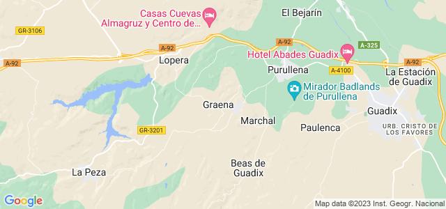 Mapa de Cortes y Graena