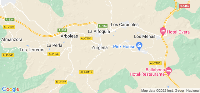 Mapa de Zurgena