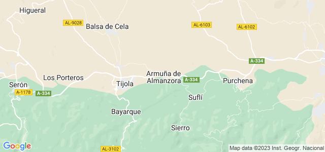Mapa de Armuña de Almanzora