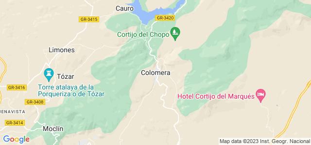 Mapa de Colomera