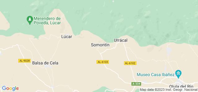 Mapa de Somontín