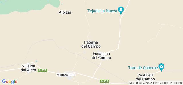 Mapa de Paterna del Campo