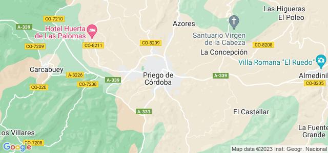 Mapa de Priego de Córdoba
