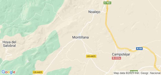 Mapa de Montillana