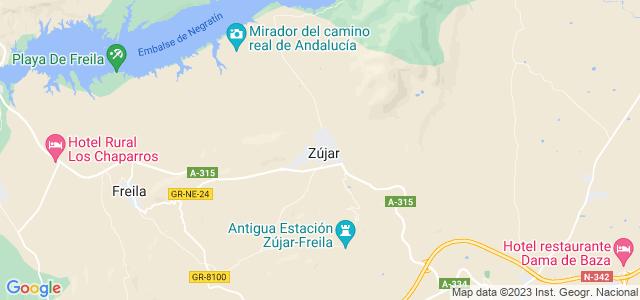 Mapa de Zújar