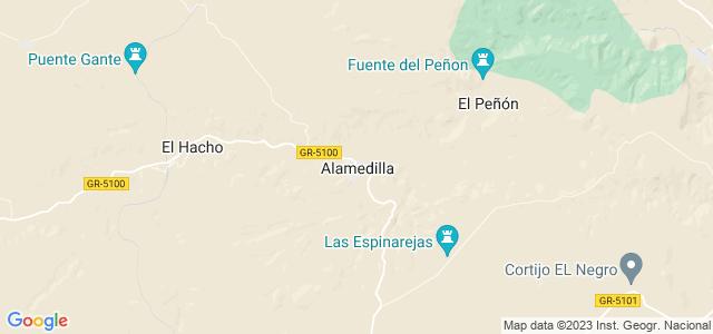 Mapa de Alamedilla