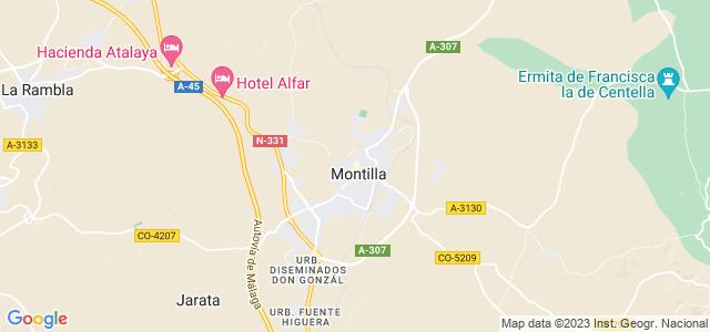 Mapa de Montilla