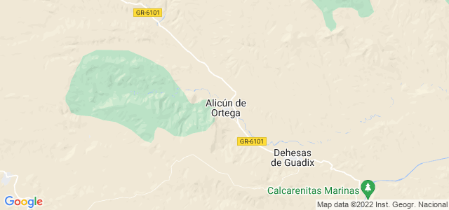 Mapa de Alicún de Ortega