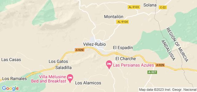 Mapa de Vélez-Rubio