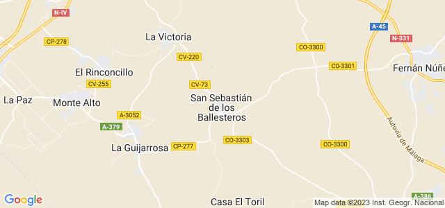 Mapa de San Sebastián de los Ballesteros