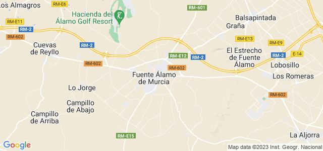 Mapa de Fuente Álamo de Murcia