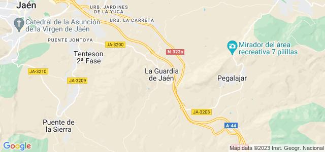 Mapa de Guardia de Jaén