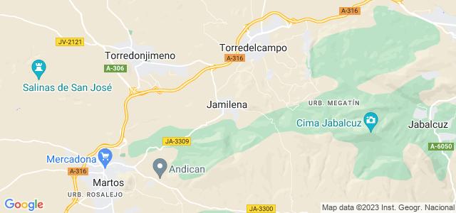 Mapa de Jamilena