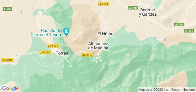 Mapa de Albanchez de Mágina