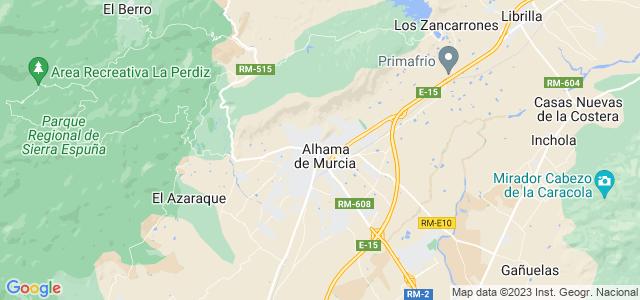 Mapa de Alhama de Murcia
