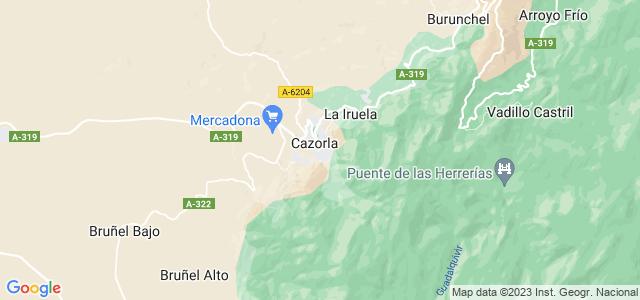 Mapa de Cazorla
