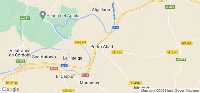 Mapa de Pedro Abad