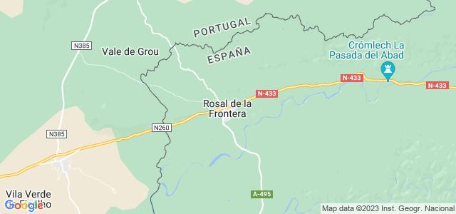 Mapa de Rosal de la Frontera
