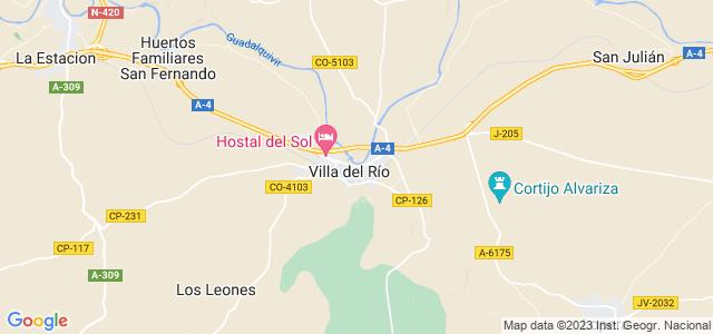 Mapa de Villa del Río