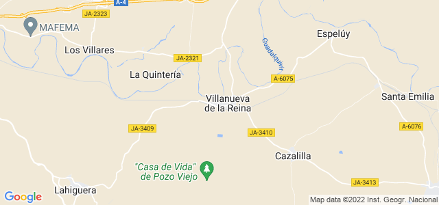 Mapa de Villanueva de la Reina