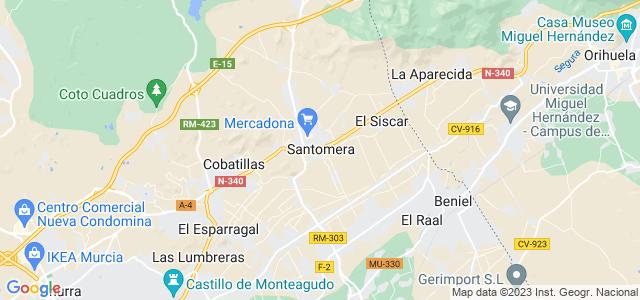 Mapa de Santomera