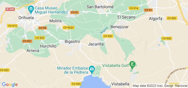 Mapa de Jacarilla