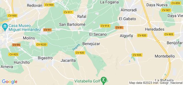 Mapa de Benejúzar