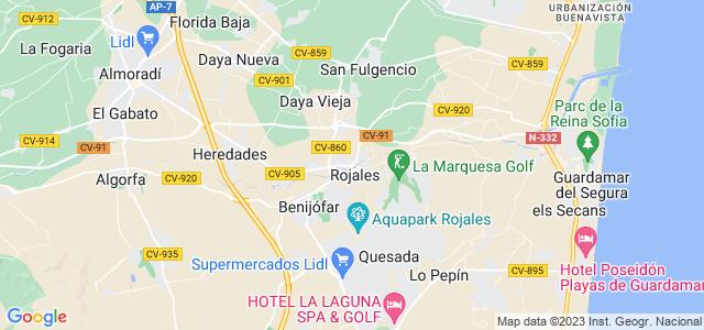 Mapa de Rojales