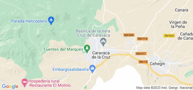 Mapa de Caravaca de la Cruz