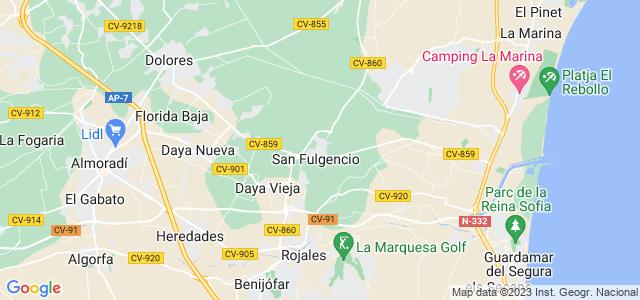 Mapa de San Fulgencio