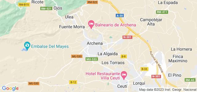 Mapa de Archena