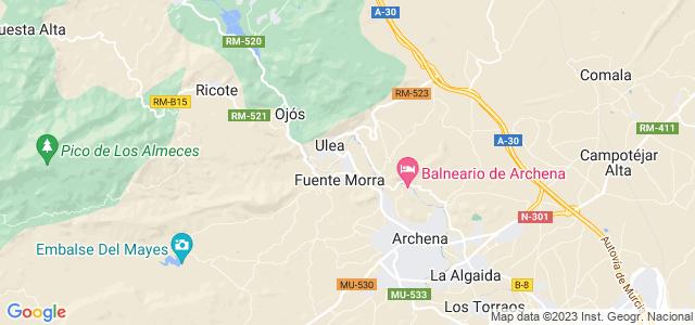 Mapa de Villanueva del Río Segura