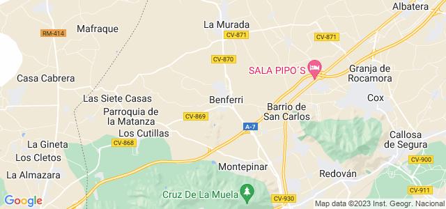 Mapa de Benferri