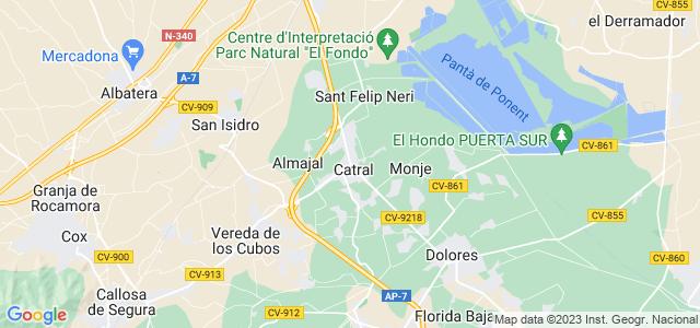Mapa de Catral