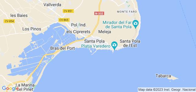 Mapa de Santa Pola