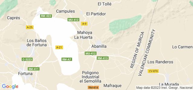 Mapa de Abanilla