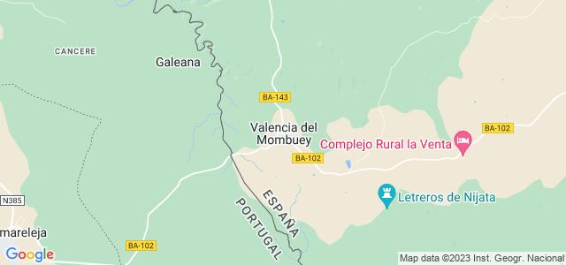 Mapa de Valencia del Mombuey