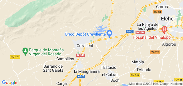 Mapa de Crevillent