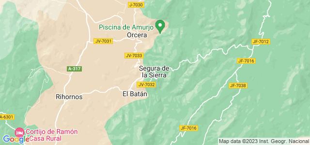 Mapa de Segura de la Sierra