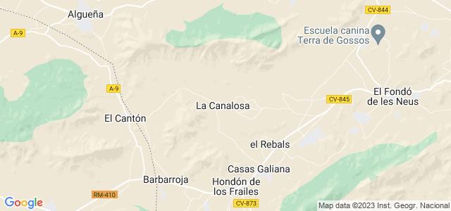 Mapa de Fondó de les Neus - Hondón de las Nieves