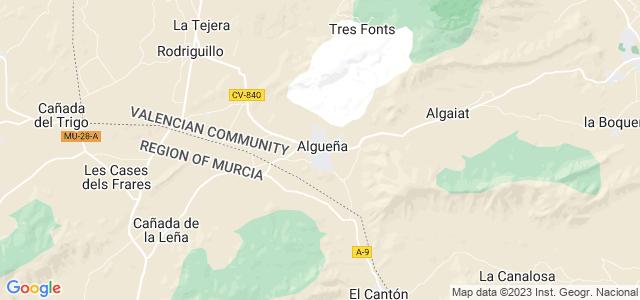 Mapa de Algueña