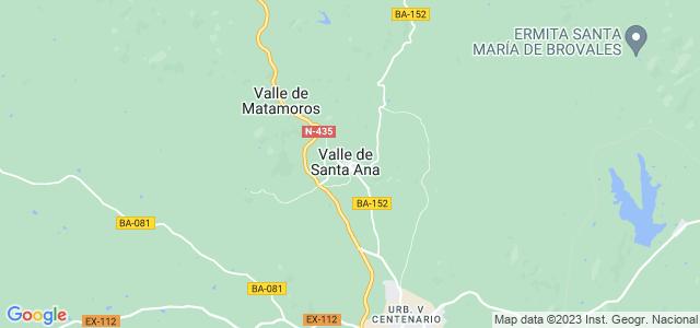 Mapa de Valle de Santa Ana